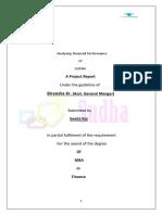 Analyzing Financial Performance of SUDHA