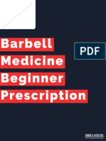 Barbell Medicine Beginner Prescription