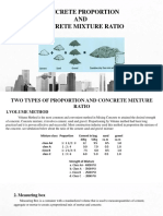 Concrete Proportion and Concrete Mixture Ratio