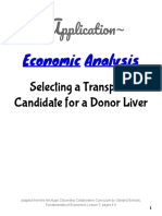 application economic analysis selecting a transplant candidate for a donor liver