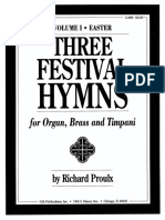 Three Festival Hymns Score & Parts - Arr. Proulx