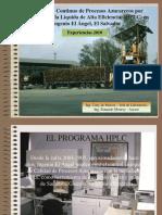 Monitoreo Continuo de Procesos Azucareros Por HPL en Ingenio El-Angel. Cony de Pastore