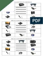 Bingo de Los Dispositivos Del Computador