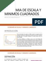 Economia de Escala y Minimos Cuadrados