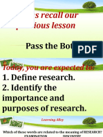 Definition and purposes of research