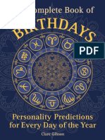 Clare Gibson - The Complete Book of Birthdays_ Personality Predictions for Every Day of the Year (2016, Wellfleet Press).pdf