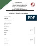 Form Pendaftaran Basket 3 x 3 (Irc 2019)
