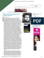 """Página_12 __ Debates __ ¿Qué Clase(s) de Batalla Es La """"Batalla Cultural"""""""