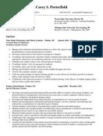 resume porterfield fc