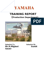 YAMAHA TRAINING REPORT