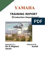 YAMAHA TRAINING REPORT