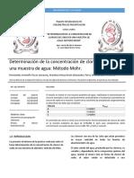 Determinacion Cloruros Metodo Mohr