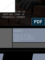 Determination of Setting Time of Hydraulic Cement