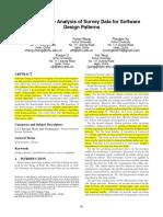 A Quantitative Analysis of Survey Data for Software