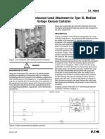 Instrucciones Mecanismo Latch Cutler Hammer-ib48020