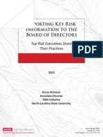 ERM - Reporting key risks