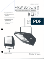 Colortran 1kW & 4kW Soft-Lite Spec Sheet 1994