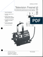 Colortran 1kW Television Fresnel 100-515 Spec Sheet 1994