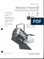 Colortran 2kW Television Fresnel 100-520 Spec Sheet 1994