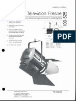 Colortran 2kW Television Fresnel 100-525 Spec Sheet 1994