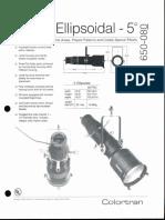 Colortran 5-50 Ellipsoidal 5 Deg. Spec Sheet 1995