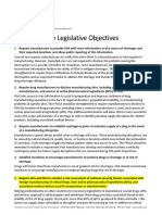 ASHP Drug Shortages Legislative Objectives