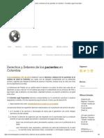 Derechos y Deberes de Los Pacientes en Colombia – Colombia Legal Corporation