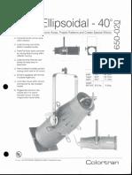Colortran 5-50 Ellipsoidal 40 Deg. Spec Sheet 1995
