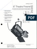 Colortran 6-Inch Theatre Fresnel Spec Sheet 1994
