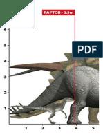 escala de dinosaurios