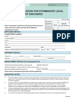 Application for Stormwater Legal Point of Discharge - 2018-2019