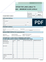 Application for Flood Levels Minumum Floor Levels - 2018-2019