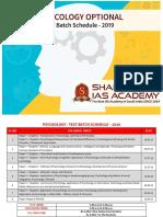 Psychology Test Schedule2019