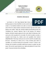 Narrative Report for Feeding Program