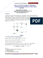 Example on the Analysis of Internal Stresses in Frames Due to Temperature Difference Using Force Method
