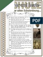 Schule Fruher 4 Eine Alte Schulordnung Arbeitsblatter Bildbeschreibungen Grammatikerklaru 25039