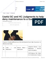 Useful SC and HC Judgments to Help You to Deny Maintenance to a Qualified Wife