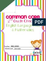 ccss ela math checklist stripes