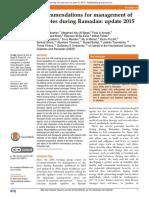 BMJ Open Diabetes Research & Care Volume 3 Issue 1 2015 [Doi 10.1136_bmjdrc-2015-000108] Ibrahim, M.; Abu Al Magd, M.; Annabi, F. a.; Assaad-Khalil, S.; -- Recommendations for Management of Diabetes