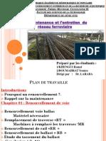 La Maintenance Et l'Entretien Du Réseau Ferroviaire