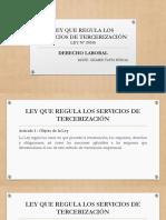 Ley Que Regula Los Servicios de Tercerización