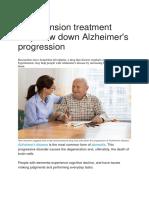 Hypertension treatment may slow down Alzheimer.docx