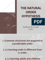 The Natural Order Hypothesis (Led 401)