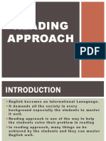 Reading Approach Ppt