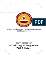 B.tech.Curriculum 2017