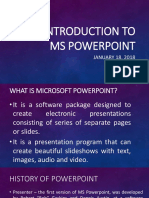 Introduction to MS Powerpoint