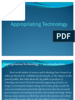 Appropriation of Technologies