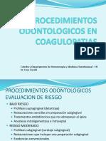 Procedimientos Odontologicos en Coagulopatias