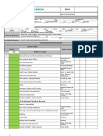 Sub Controller Room General Inspection List