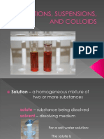 Solutions Suspensions and Colloids